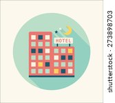 hotel flat icon with long shadow | Shutterstock . vector #273898703