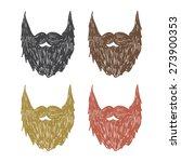vector hand drawn beard set....
