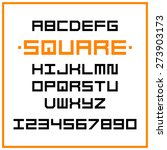 vector square alphabet | Shutterstock .eps vector #273903173