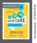 stylish health care flyer ... | Shutterstock .eps vector #273907553