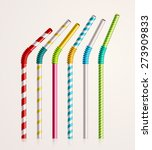 Set Colorful Drinking Straws ...