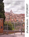 the old town of siena  italy  ... | Shutterstock . vector #273928037