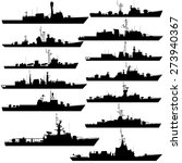the contours of warships ... | Shutterstock .eps vector #273940367