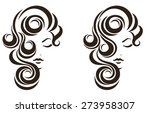 hair stile icon  female face ... | Shutterstock .eps vector #273958307