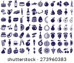 blue icons on a white... | Shutterstock .eps vector #273960383