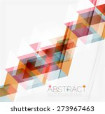abstract geometric background.... | Shutterstock .eps vector #273967463