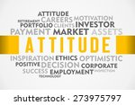 attitude word cloud of business | Shutterstock . vector #273975797