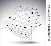 3d mesh modern design abstract...   Shutterstock . vector #273979493