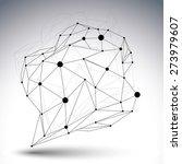 contemporary techno black and... | Shutterstock . vector #273979607