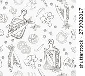 fish seamless background.... | Shutterstock .eps vector #273982817