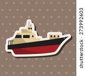 transportation boat   cartoon... | Shutterstock . vector #273992603