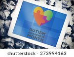 autism awareness month against... | Shutterstock . vector #273994163
