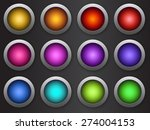 round internet button | Shutterstock . vector #274004153