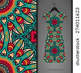 dress with seamless pattern.... | Shutterstock .eps vector #274011623