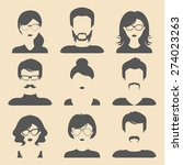 vector set of different male... | Shutterstock .eps vector #274023263