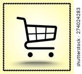 shopping cart sign icon  vector ... | Shutterstock .eps vector #274024283