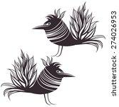 hand drawn abstract bird.... | Shutterstock .eps vector #274026953