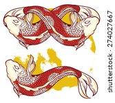 infinity fish vintage... | Shutterstock . vector #274027667