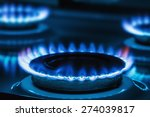 Burning Blue Gas On The Stove....