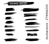 set of hand drawn grunge brush... | Shutterstock .eps vector #274046243