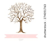 illustration of watercolor tree.... | Shutterstock .eps vector #274051763