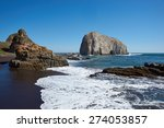 Large Rocks On The Coast Of...