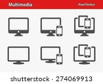 multimedia icons. professional  ... | Shutterstock .eps vector #274069913