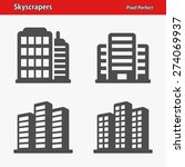 skyscrapers icons. professional ... | Shutterstock .eps vector #274069937
