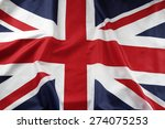 closeup of union jack flag  | Shutterstock . vector #274075253