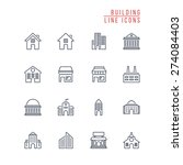 building line icons | Shutterstock .eps vector #274084403