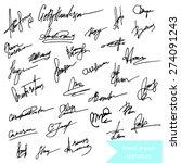 Hand Drawn Uniquw  Signature...