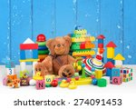 toy  collection  soft. | Shutterstock . vector #274091453