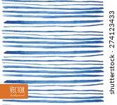 Watercolor Blue Strips In Vector