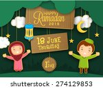 holy month of muslim community  ... | Shutterstock .eps vector #274129853