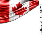 canada flag and white... | Shutterstock . vector #274130213