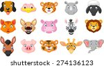 cartoon animals smiling | Shutterstock . vector #274136123