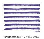 vector set of hand drawn lines. ... | Shutterstock .eps vector #274139963