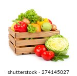 fresh vegetables and fruit in a ... | Shutterstock . vector #274145027