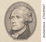 Small photo of Portrait of U.S. president Alexander Hamilton