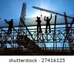 group of the workers on a... | Shutterstock . vector #27416125