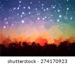 starry sky brush strokes... | Shutterstock . vector #274170923