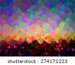 abstract sunset round brush... | Shutterstock .eps vector #274171223