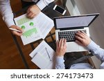 business people working on the... | Shutterstock . vector #274173473