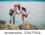 couple in vacation on greece | Shutterstock . vector #274177013