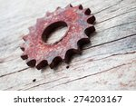 row of steampunk gears on a... | Shutterstock . vector #274203167