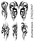 set of tribal tattoos. eps 10... | Shutterstock .eps vector #274212947