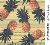 seamless pattern with... | Shutterstock .eps vector #274231127