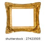 Old Gold Frame On White...