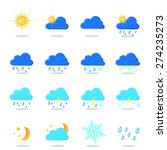weather report symbols icon | Shutterstock .eps vector #274235273