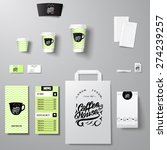 coffee shop corporate identity... | Shutterstock .eps vector #274239257